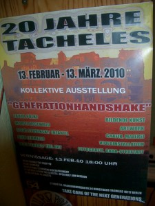 Flyer derAusstellung Generationhandshake
