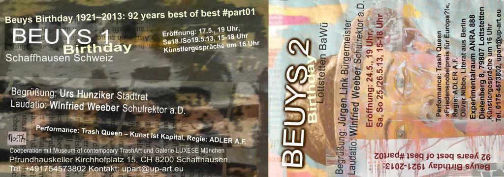 beuys birthday 1&2